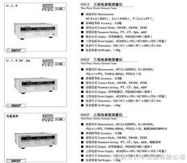 8901F三相电参数测量仪