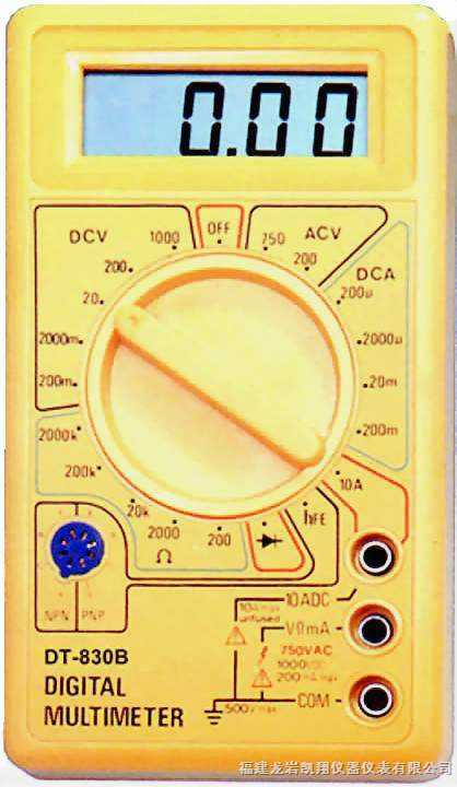 kxdt-830b 数字万用表