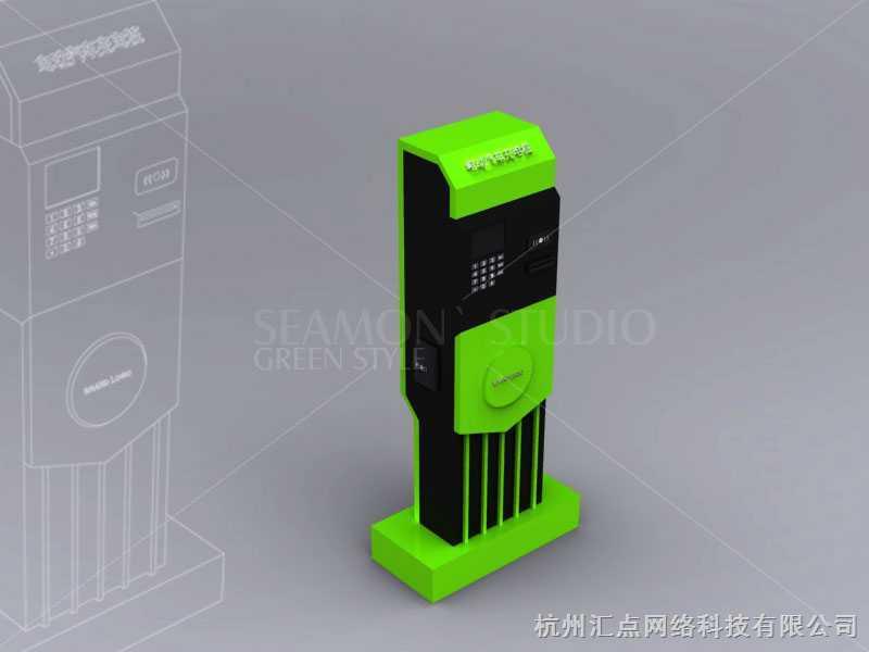 电动汽车充电桩效果图7 杭州汇点网络科技有限公司