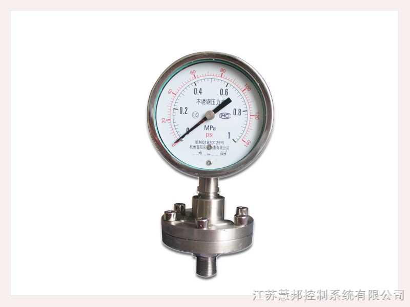 隔膜式耐震压力表