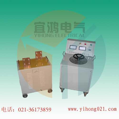 控制箱a与x接线柱(输出)与升流变压器初级输入接线柱