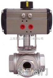 ZGJQ614上海-气动三通内螺纹球阀-L形ZGJQ614-T形ZGJQ615