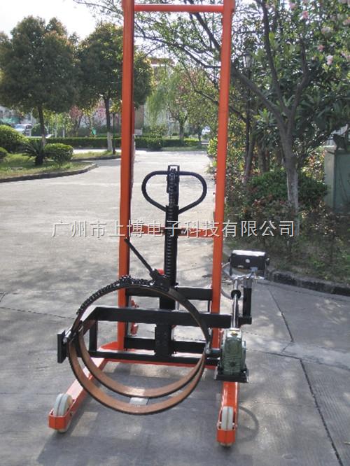 500公斤带电子秤倒桶搬运车|手动液压油桶搬运车秤