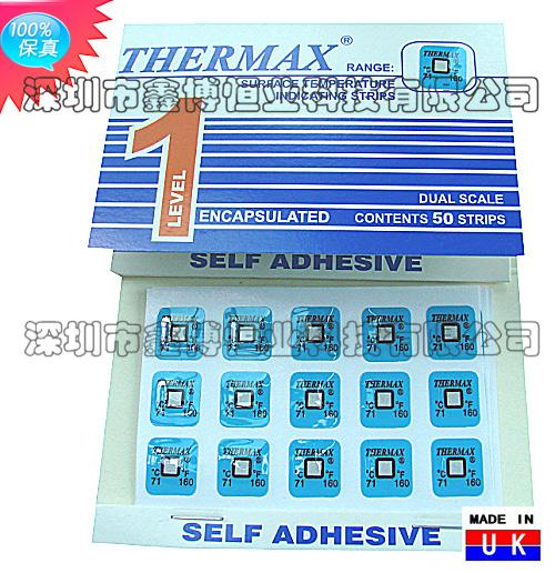 单格温度热敏试纸|英国THERMAX温度美|TMC示温纸|温度纸|测温纸|感温贴纸
